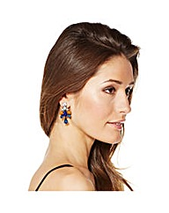 Mood Blue And Orange Cluster Earring