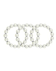 Mood Pearl Capped Stretch Bracelet Set