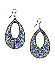Mood Thread Wrap Teardrop Earring