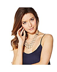 Mood Graduated Pearl Triple Row Necklace