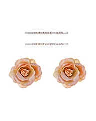 Mood Silk Flower And Hair Slide Set