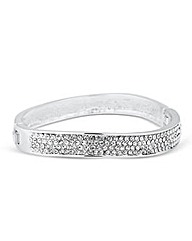 Mood Crystal Embellished Wave Bangle