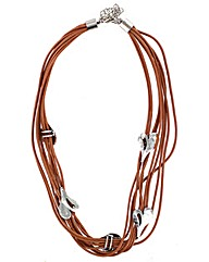 Multi Leather Strand Necklace