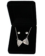 Diamnate Bow Jewellery Set