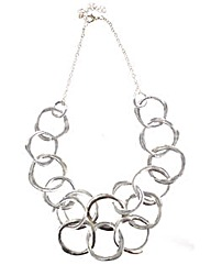 Matte multi ring necklace
