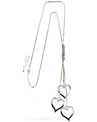 Lariat Heart Outline Necklace