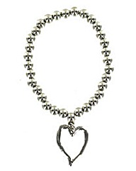 Elasticated Heart Outline Bracelet