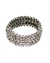 Glass Diamante Stretch Bracelet