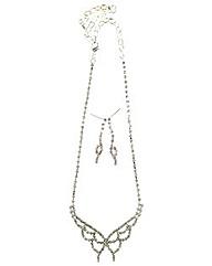 Diamnate Butterfly Jewellery Set