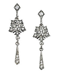 Downton Abbey Silver-tone Drop Earrings