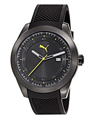 Puma Gents Overdrive Black Strap Watch