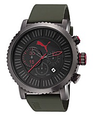 Puma Chronograph Green Strap Watch