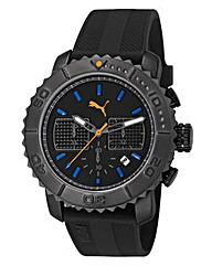 Puma Chronograph Black Dial Strap Watch