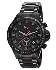 Puma Gents Black Dial Bracelet Watch