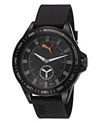 Puma Gents Black & Grey Dial Strap Watch