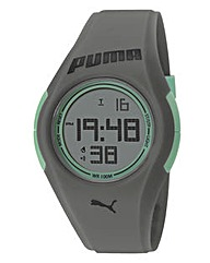 Puma Gents Grey Silicon Strap Watch