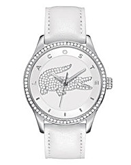 Lacoste Ladies Silver Tone Watch