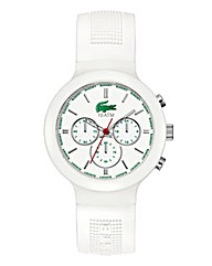 Lacoste Gents White Silicone Watch