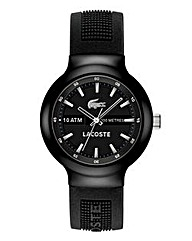 Lacoste Gents Black Silicone Watch