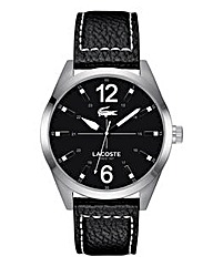 Lacoste Gents Black Leather Strap Watch