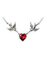 Alchemy Gothic Swallow Heart Necklace