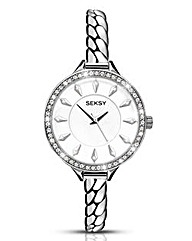 Seksy Ladies Glitzy Bezel Watch