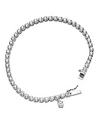 Diamonfire Sterling Silver & CZ Bracelet