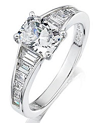 Diamonfire Sterling Silver and CZ Ring