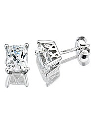 Diamonfire Sterling Silver & CZ Earrings