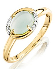 9 Carat Gold & Blue Chalcedony Ring
