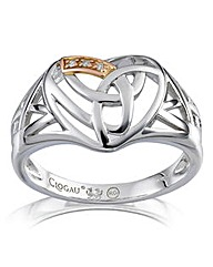 Clogau Sterling Silver & 9Ct Rose Ring