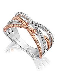 J-Jaz Cubic Zirconia Twist Ring