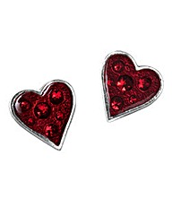 Alchemy Gothic Hearts Blood Studs