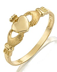 9 Carat Gold Small Claddagh Ring