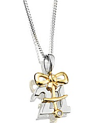 Sterling Silver & 9ct Gold Pendant