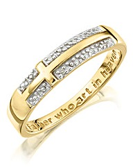 9 Carat Gold Ladies Lords Prayer Ring