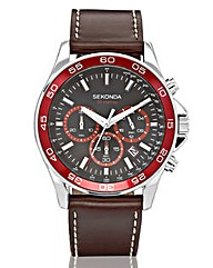 Sekonda Gents Brown Strap Watch