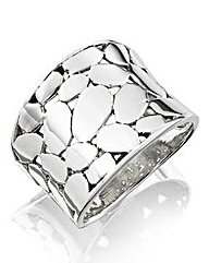 Sterling Silver Cut-out Chunky Ring