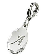 Sterling Silver Oval Initial Charm