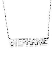 Sterling Silver 16inch Name Necklace