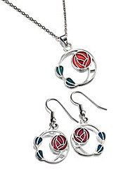 Sea Gems Mackintosh Pendant & Earrings