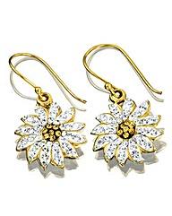 Crystal Flower Shaped Earrings