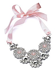 Pink Ribbon Glitzy Necklace