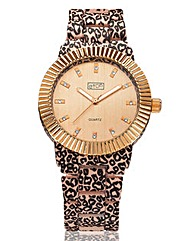 Ladies Animal Print Bracelet Watch