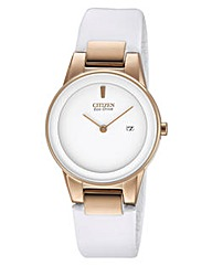 Citizen Ladies White Strap Watch