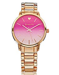 Accessorize Rose-Tone Bracelet Watch