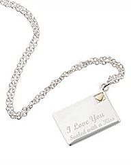 Sterling Silver Love You Letter Pendant