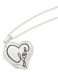 Sterling Silver Heart Love Locket