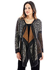 Joanna Hope Metallic Waterfall Cardigan