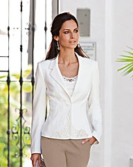 Together Applique Trim Jacket